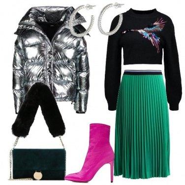 Outfit Il piumino spaziale