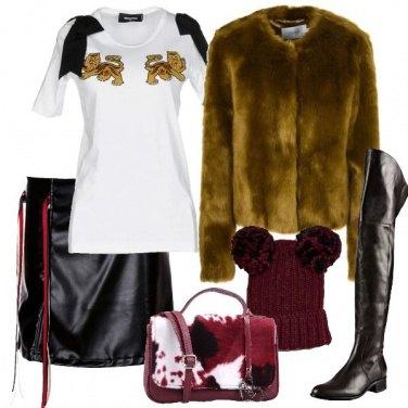 Outfit Pelliccia ecologica e cuissard