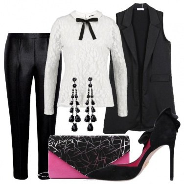 Outfit Notte con accenni Mannish