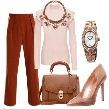 Outfit Ruggine e rosato