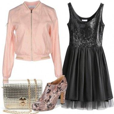 Outfit Paillettes e voile