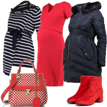 Outfit Mix and match in rosso e blu