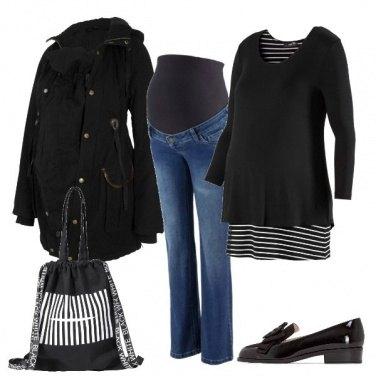 Outfit Righe orizzontali e verticali