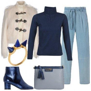 Outfit Denim e pelliccia