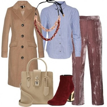 Outfit Velluto rosa antico