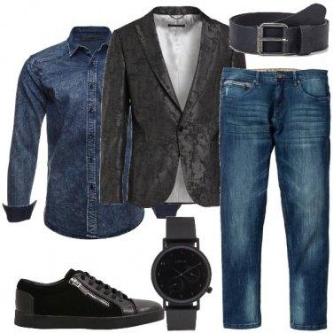 Outfit La giacca fantasia mélange