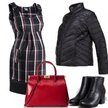 Outfit Vestito a quadri