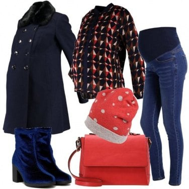 Outfit Stivaletti in velluto