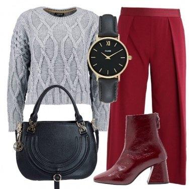Outfit Maglione grigio