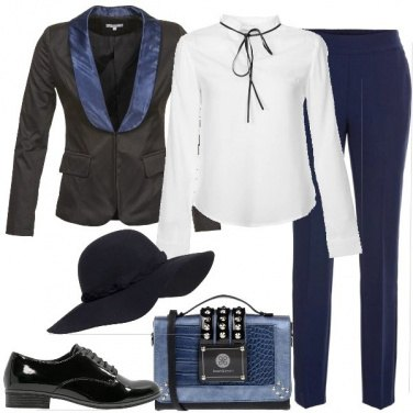 Outfit Il rever a contrasto