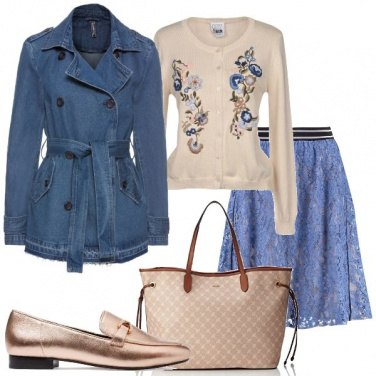 Outfit Il trench di jeans