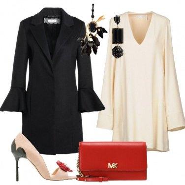 Outfit Il vestito corto avorio