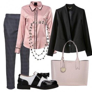Outfit Una stringata bicolor