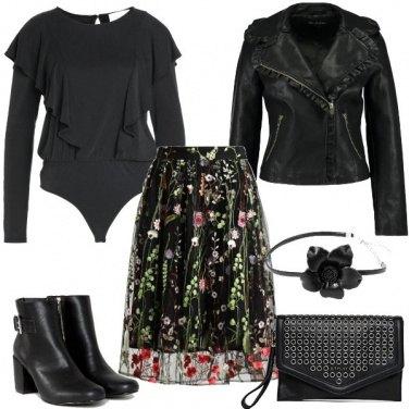Outfit La gonna floreale