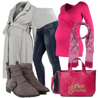 Outfit Quasi mamma in due colori