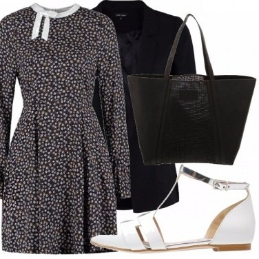 Outfit Fiori black and white