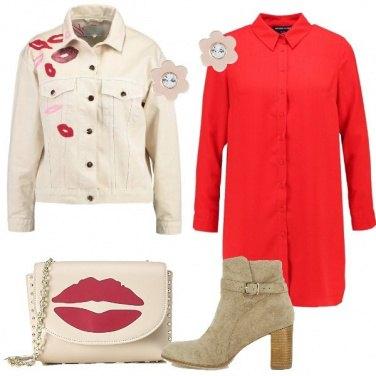 Outfit Il vestito rosso a camicia