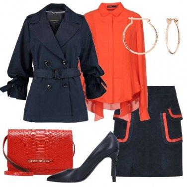 Outfit Blu e arancione