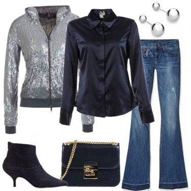 Outfit La felpa di paillettes
