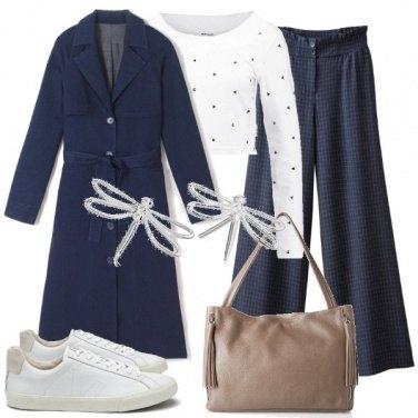 Outfit Blu e bianco