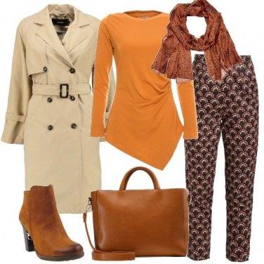 Outfit La maglia arancio asimmetrica
