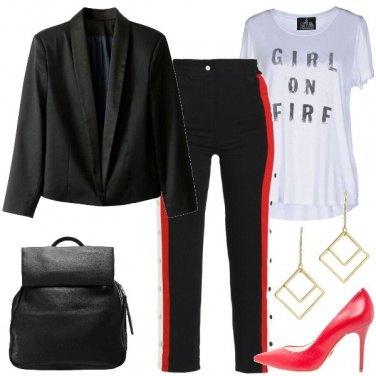 Outfit I pantaloni con banda laterale