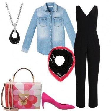 Outfit Fuxia e nero