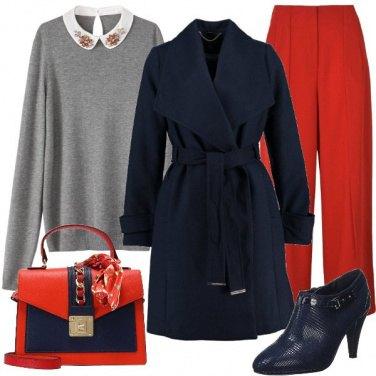 Outfit Rosso e blu insieme