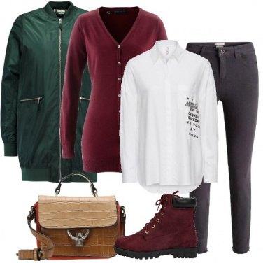Outfit Il cappotto corto verde