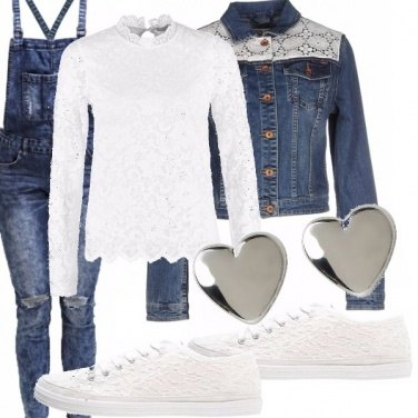 Outfit Denim and lace!