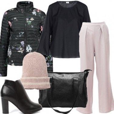 Outfit Il piumino fantasia floreale