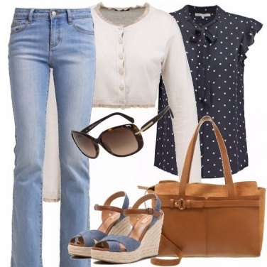 Outfit Jeans e pois