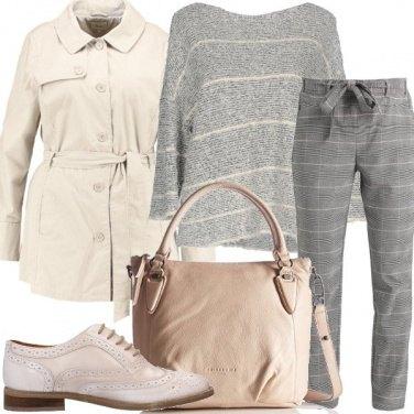 Outfit La maglia con scollo ampio