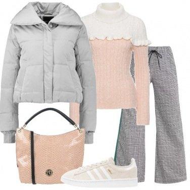 Outfit Il piumino grigio