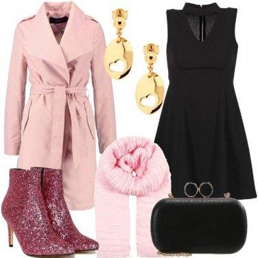 Outfit Trochetti rosa glitter
