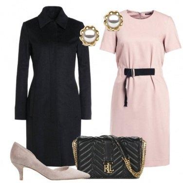 Outfit Bon Ton nero e rosa