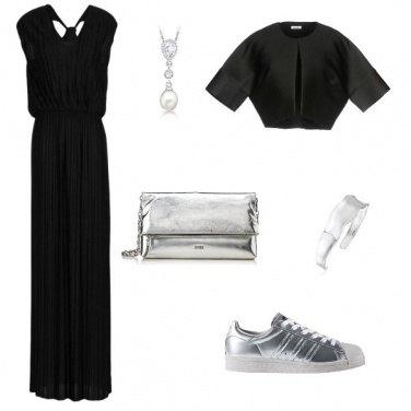 Outfit Come sdrammatizzare l\'abito lungo nero