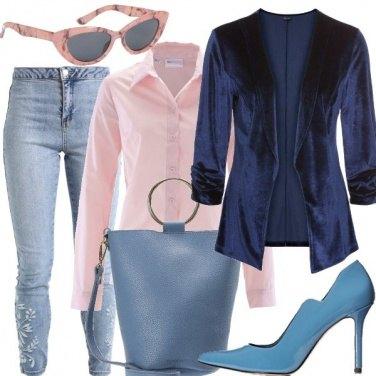Outfit Dettagli rosa e azzurri