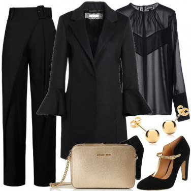Outfit Total Black sofisticato