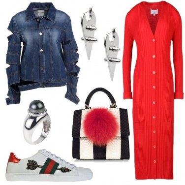 Outfit Il cardigan come vestito