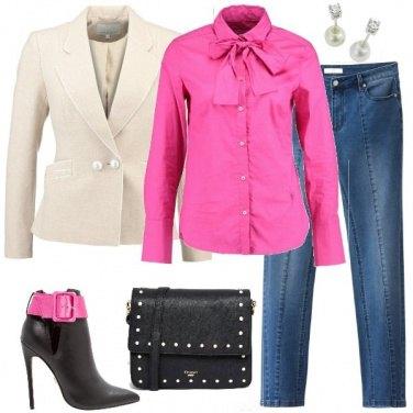 Outfit Il blazer con le perle