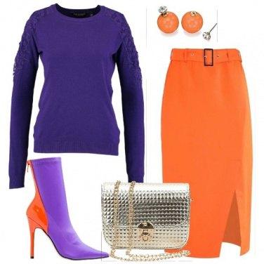 Outfit Arancioneviola