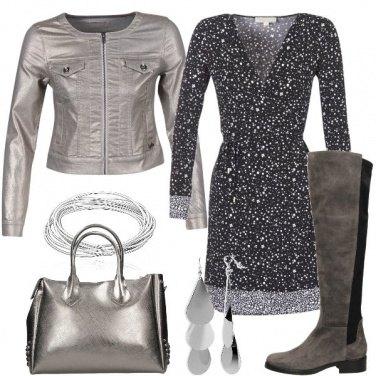 Outfit Argento e microfantasie