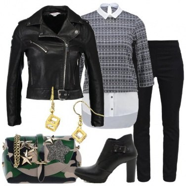Outfit Biker e tronchetto