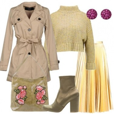 Outfit Trench e gonna a campana
