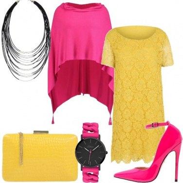 Outfit Rosa e giallo un bel contrasto