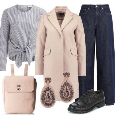 Outfit Cappottino color nude