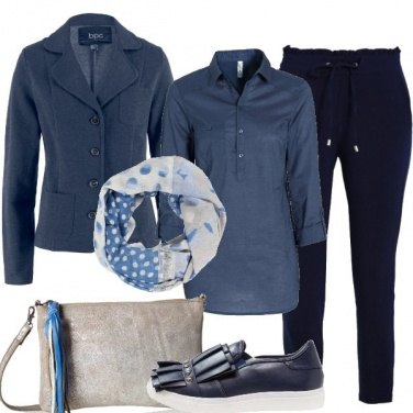 Outfit Le sfumature del blu