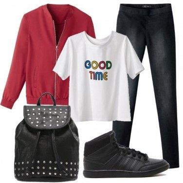 Outfit Come abbinare il jeggings nero