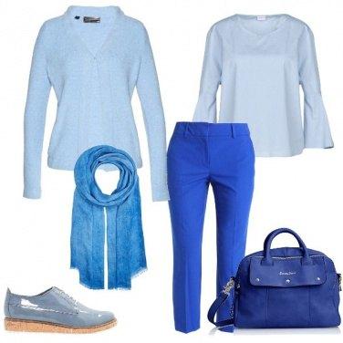Outfit Le tante tonalità di blu